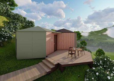 La cabaña prefabricada rubia se dirige, las casas modulares ...